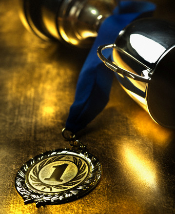 Trophy and Medal --- Image by © Corbis